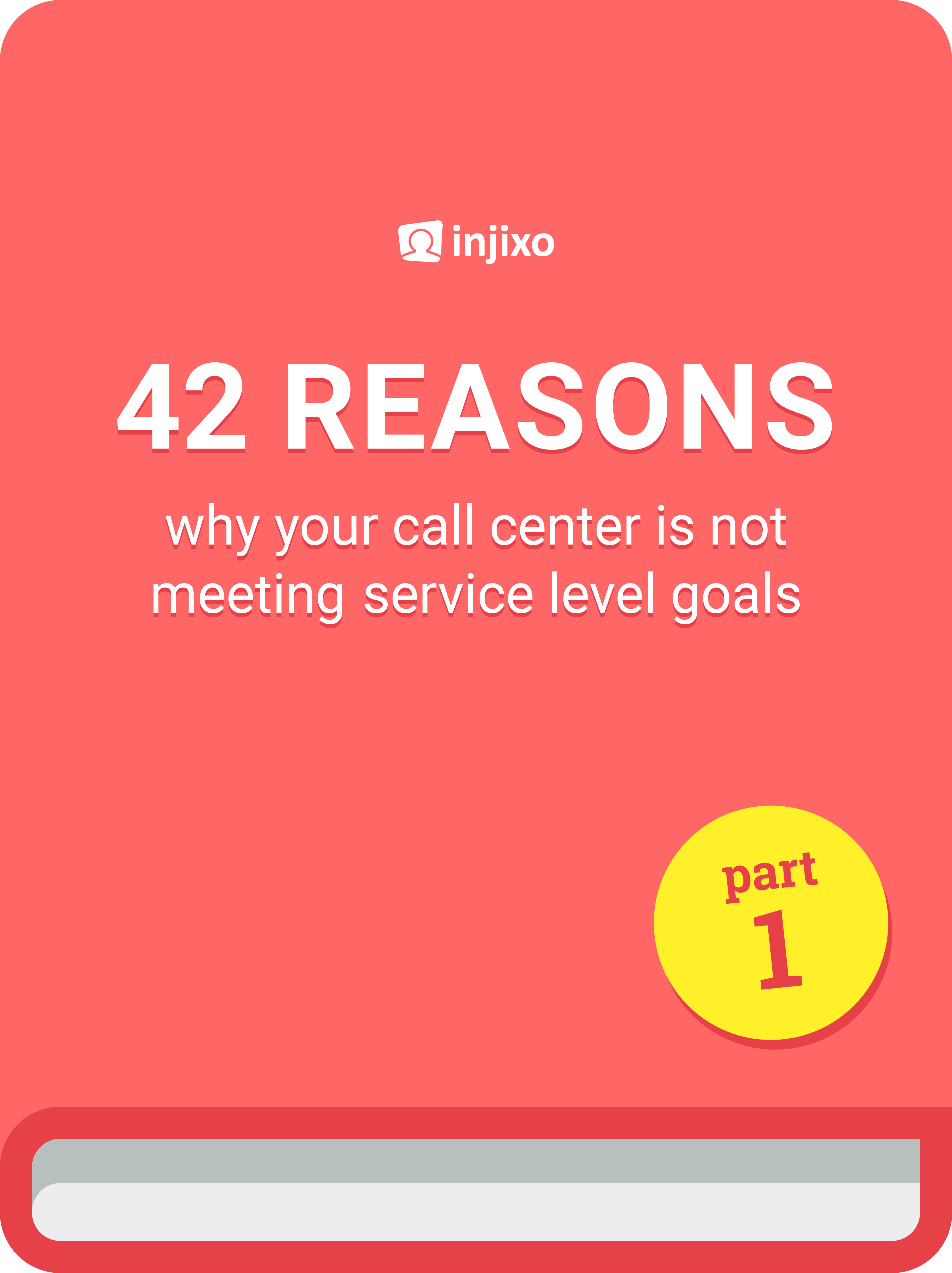 42 reasons why your call center is not meeting service level - injixo blog ebook