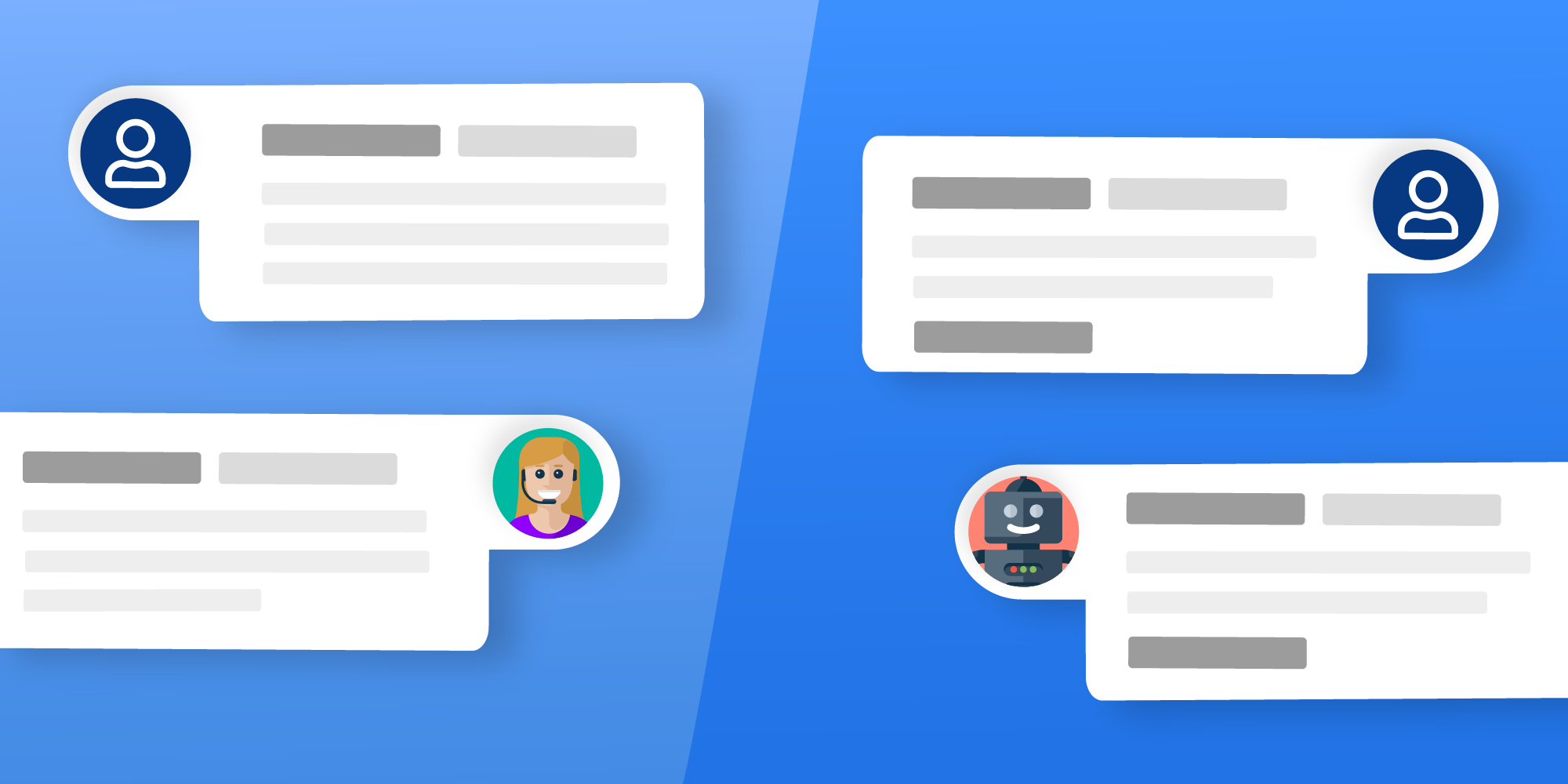 Human Agents vs. Chatbots: How to Best Integrate the Skill Sets of Both in Your Contact Center